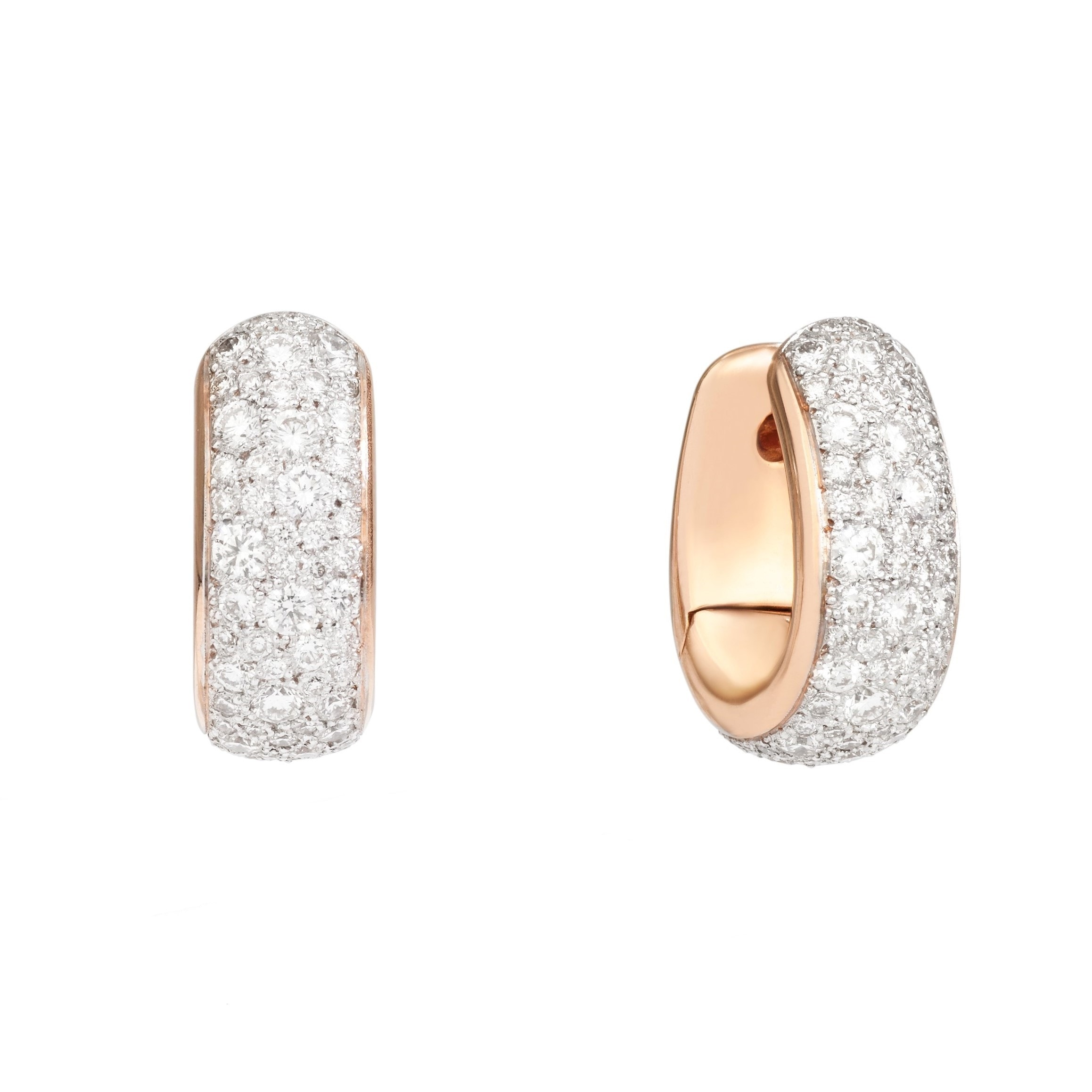 Pomellato Iconica earrings on a white background