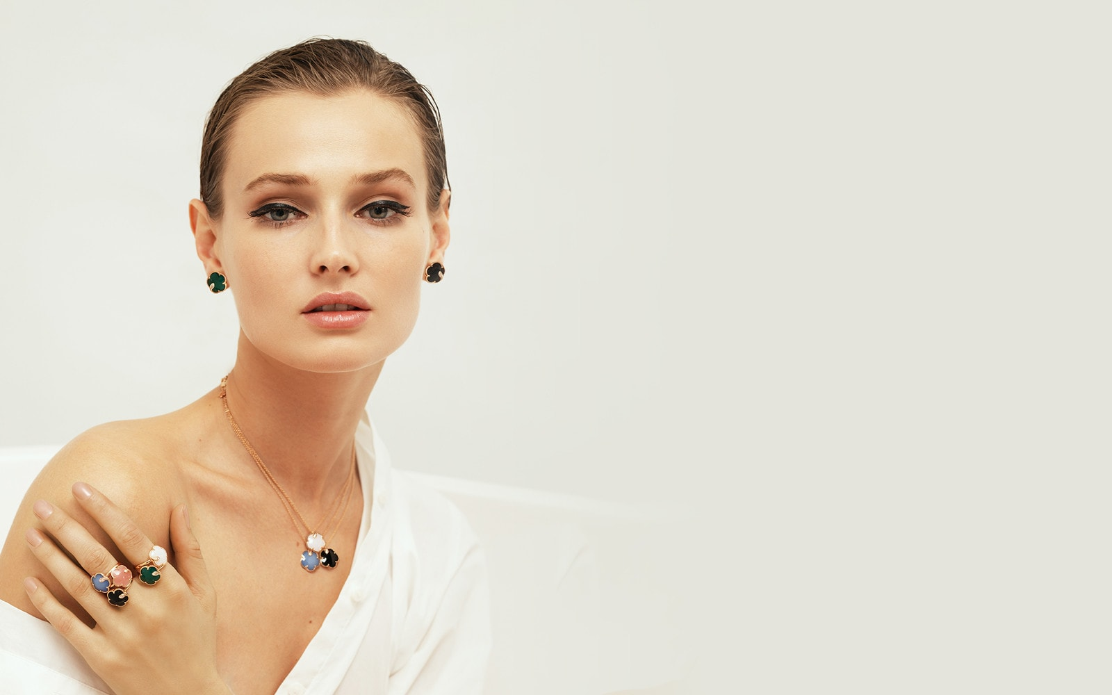 Woman wearing Pasquale Bruni jewellery